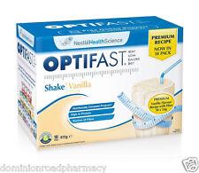 optifast VLCD Vanilla Milkshakes ( 18 Sachets per Box ) PRemium NEW 54 gm Each