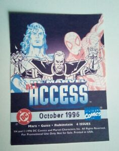 MARVEL DC COMICS ALL ACCESS ORIG. 1996 PROMO STICKER FOUND LTD SUPPLY FREE P&P!