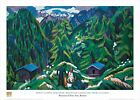 Mountain Landscape From Clavadel by Ernst Ludwig Kirchner 28x20 Museum Print