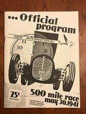 May 30 1941 Indianapolis 500 (Floyd Davis) Official Program Reprint 1983