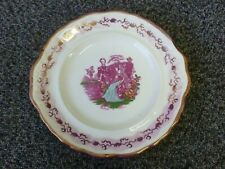 More details for antique staffordshire pink lustre pottery sandwich plate queen victoria & albert