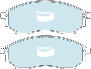 Brake Disc Pad Set Front Bendix DB1696 4WD For INFINITI NISSAN RENAULT