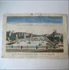 Gravure VUE D'OPTIQUE AMSTERDAM XVIIIè PONT AMSTEL MAISON DES ORPHELINS 18thC