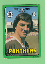 1978   PENRITH PANTHERS  RUGBY LEAGUE CARD #1 KEVIN DANN, PEN MARKS