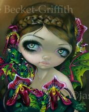 Dragon Orchid Jasmine Becket-Griffith CANVAS PRINT fairy dragonling big eye art