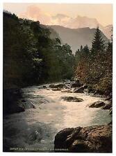 White Lutschine Bernese Oberland A4 Photo Print