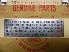 Honda CB 750 Four Aufkleber Kettenschutz Mark muffler caution 87504-028-670