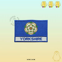 YORKSHIRE County Flag With Name Embroidered Iron On Sew On Patch Badge