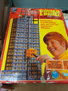 1975 Kenner Girder & Panel Action Building Set with Elevator #72050 + Extra's
