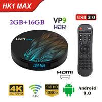 HK1 MAX Circle TV Box RK3318 Quad Core 2G+16G WiFi 4K 3D Android9.0 Media Player