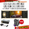 "4.1"" HD 1DIN Car Radio Stereo Video MP5 Player Bluetooth FM AUX USB SD TF Y4A7"