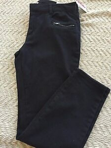 BONGO Juniors Girls Twill Ankle Biter Black Capri Size 11, Black Wash, NWT