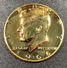 1966-P SILVER KENNEDY HALF DOLLAR GOLD GILDED GEM CHOICE BU BEAUTIFUL UNC (MR)