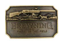 Browning Finest in the Field Antique Bronze Metal Belt Buckle