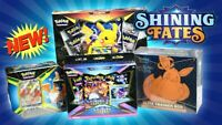 ✅Ships Today✅ Pokemon Shining Fates ETB Pikachu Boxes Tin Factory Sealed-In Hand