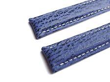 HAIFISCHBAND, blau, 20/18 (110/90) speziell passend für Breitling - Faltschließe