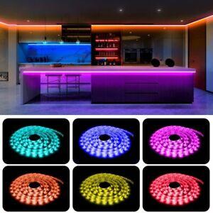 Led Strip Lights 16.4ft Color Changing String Light + Remote Adhesive Backing
