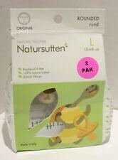 Natursutten Natural Rubber Pacifier Original Rounded Large 12m+ 2pk *OPEN BOX*