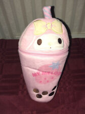 Sanrio My Melody Strawberry Smoothie Plush Pencil Pouch Makeup Case New