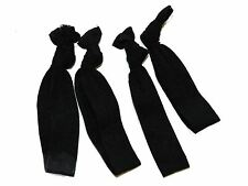 Black Elasticated Ribbon Hair Tie Bobbles
