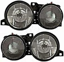 Black Headlights Left Right Pair Fits BMW E30 82-94