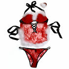 Victoria's Secret Christmas Costume Set Sexy Little Things Red Lace White Vs New