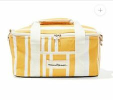 New listing Business and Pleasure Co Insulated Cooler Bag Yellow White Stripe