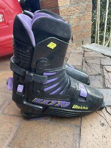Raichle Pro Flex Ski Boots Purple Black 321mm RX770 RXT70 RXT-70 Switzerland