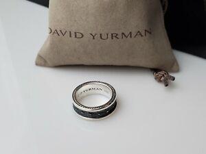 David Yurman 925 Sterling Silver 9mm Armory Band Ring Size 10