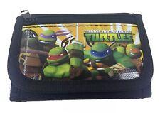 Teenage Mutant Ninja Turtles Licensed Black Trifold Kid Wallet TMNT Nickelodeon