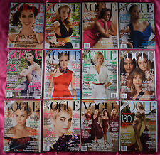 Set/12 VOGUE U.S. Magazine 2009 ~ Complete Year! ~ Inc. HUGE March & September
