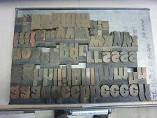 Letterpress Wood Type 144 Point Lower Case