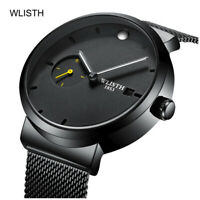 Stainless steel Watch - Reverse Time Movement, Unique Display, Unusual watch men