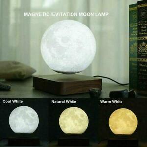 Magnetic Levitating Floating Moon Light Lamp Desktop3D Lights Night N4X7