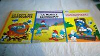 Lot de 3 bandes dessinées Schtroumpfs Année 2000