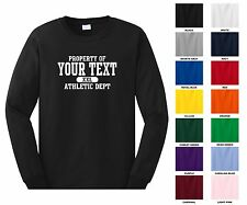 Custom Long Sleeve T-shirt, Front Blank, Back Name & Number Only 0003
