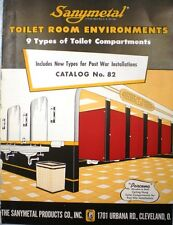 Sanymetal Products Co. SANYBESTOS ASBESTOS Bathroom Toilet Panels Catalog 1944
