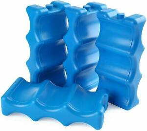 4 Gel Freezer Ice Blocks Cooler Pack Bag Water injection Picnic Travel Lunch Box