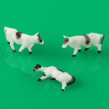 20pcs Well Painted Plastic Farm Animals Cows Model Layout 1:150  N Scale