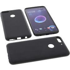 Funda para HTC Desire 12 Plus Funda Protectora de Móvil TPU Goma Funda Negra