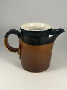 Vintage Mikasa Potters Art Stoneware CREAMER PITCHER Brown Butterscotch Color