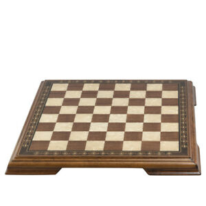 SAC Chessboard with Marquetry & Legs  Walnut & Eco Mother of Pearl 50cm