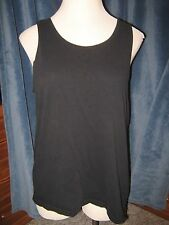 JERZEES Light Black Sleeveless 100% Cotton Stretch Tank Top L