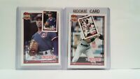 Uncirculated 1991 Topps Indians Efrain Valdez + Alex Cole + Mini's