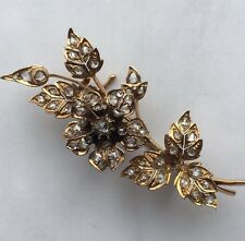 Victorian 18ct Gold Diamond En Tremblant Brooch French Antique