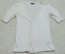 Small Calvin Klein Sweater White Cardigan Women's 3/4 Sleeve Shirt Top Woman's