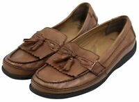 DOCKERS Men's Brown Leather Casual Slip-On Tassel Loafers Shoes Size 11M