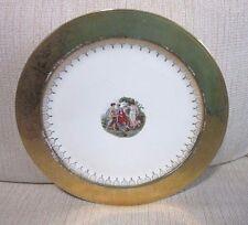 Vintage Atlas China Eggshell Nautilus cake plate. Roman ladies, gold trim