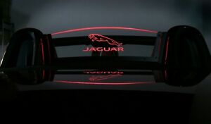 Wind Restrictor screen for Jaguar F-Type convertible air deflector lighted logo
