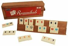 (NEW) Rummikub Durable Wooden Racks and Case Official, By Front Porch Classics